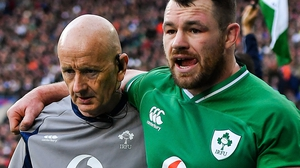 Cian Healy was withdrawn during the first half of Ireland's defeat at Twickenham