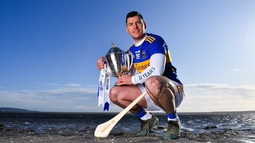 John 'Bubbles' O'Dwyer with the Dr Croke Cup