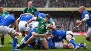 Ireland and Italy in action during the 2018 Six Nations game in Dublin