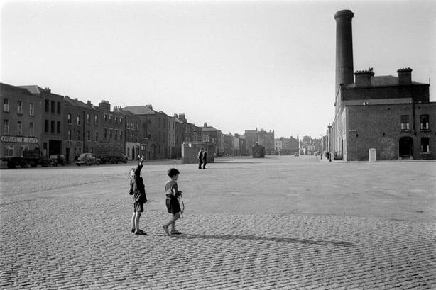Smithfield, Dublin, 1952 or 1953.