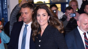 Kate Middleton looked effortlessly classy in tweed and sparkles. Photo: Getty