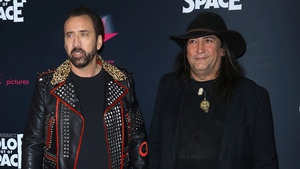 "Nicolas Cage and Color Out of Space director Richard Stanley - ""Nic brings a kind of danger or edginess to it that keeps me watching because I don't know what the hell he's going to do next!"""