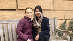 Malala Yousafzai posted a picture with Greta Thunberg on her Twitter account (Pic: Taylor Royle - Malala Fund)