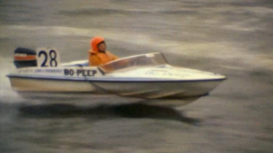 Powerboat Racing on the River Liffey, 1980