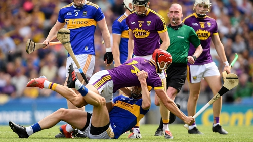 Chin and Barry Heffernan get to know one another in last year's All-Ireland semi-final