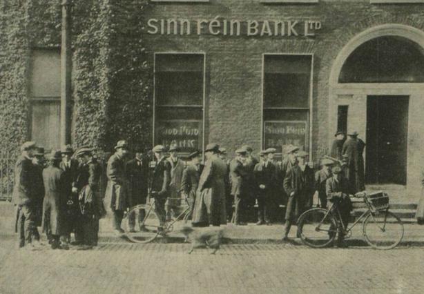 The Sinn Féin bank on Harcourt Street, Dublin Photo: Illustrated London News, 25 October 1919