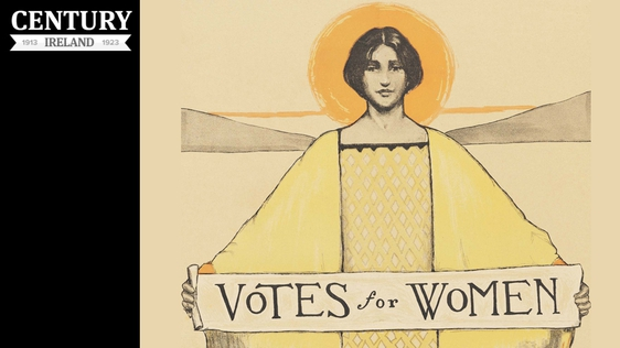 Century Ireland, Issue 173 Detail of a Votes for Women poster from the US c. 1913 Photo: Schlesinger Library on the History of Women in America