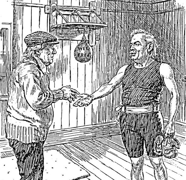 Lloyd George welcoming his old 'sparring partner' Asquith back to the public life Photo: Punch Magazine, 3 March 1920