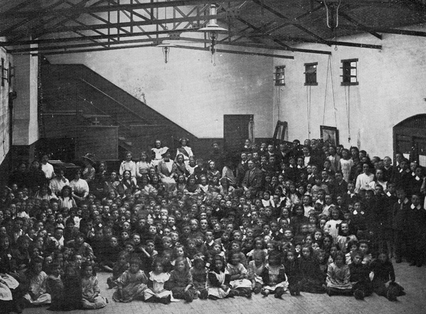 Children at an indoor playground funded by Lord Iveagh in Dublin City Photo: Dublin City Library and Archive,