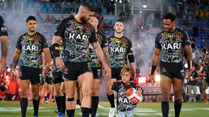 Quaden Bayles recently led the Indigenous All Stars on to the field during a National Rugby League game