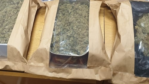 Cannabis was seized during searches in Drogheda
