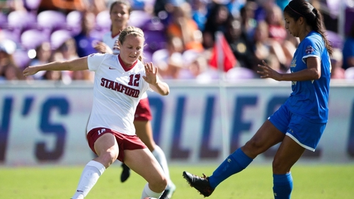 Kyra Carusa (L) could be set to play for Ireland