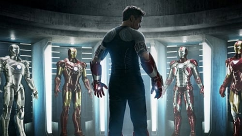 Suits you sir: Tony Stark consults his wardrobe