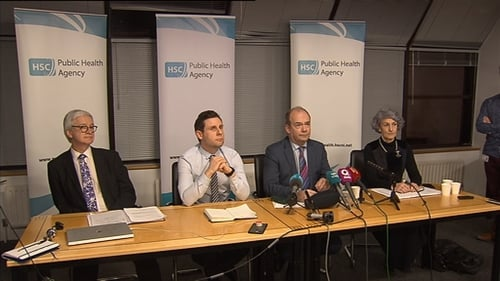 The news was confirmed during a briefing byNorthern Ireland's Public Health Agency this evening