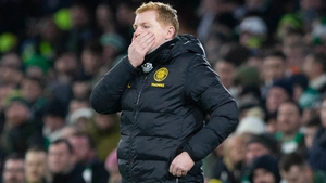 Neil Lennon watching on at Parkhead