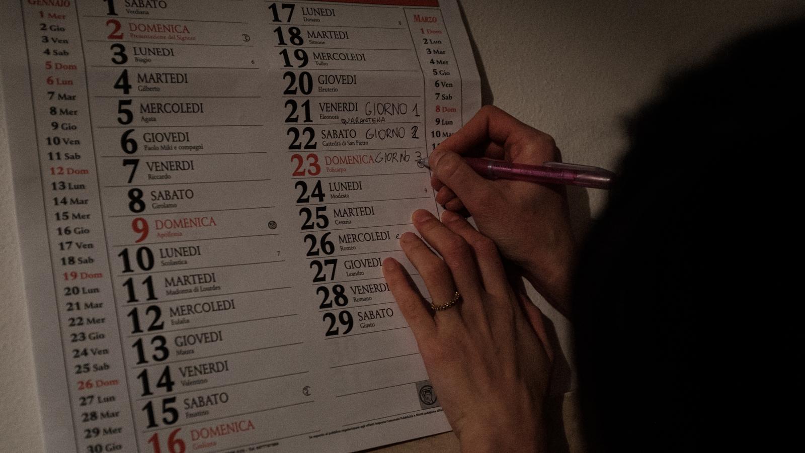 Image - Marking the days of lockdown (Image: Marzio Toniolo)