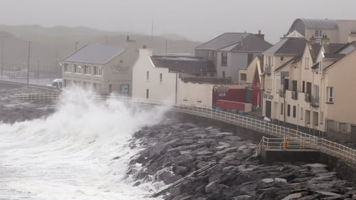 Storm Jorge is the third such storm to hit Ireland this month, following Storm Ciara and Storm Dennis (file pic)