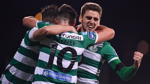 Dylan Watts of Shamrock Rovers celebrates