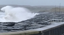 Waves crash on the shore in Lahinch as a Red Wind Warning comes into effect for Clare and Galway at 1pm