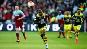 Michael Obafemi during the Premier League match against West Ham