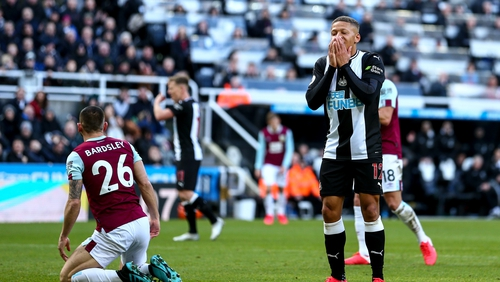 Dwight Gayle started for a Newcastle side struggling for goals