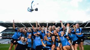 Gailltír players celebrate their success