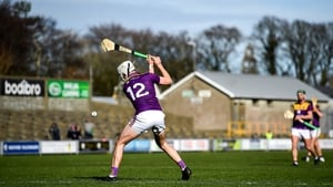 Rory O'Connor of Wexford shoots to score his side's first goal