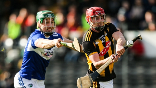 James Maher of Kilkenny in action against Laois' James Ryan