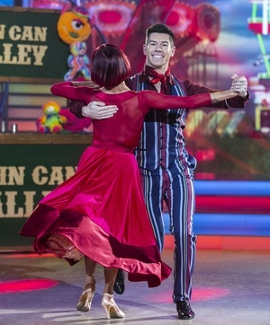 Ryan Andrews and Giulia Dotta opened the show with a quickstep to What a Man Gotta Do by the Jonas Brothers.