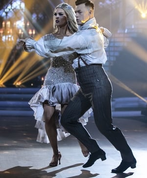 Gráinne Gallanagh and Kai Widdrington danced a paso doble to I Would Do Anything for Love (But I Won't Do That) by Meatloaf.