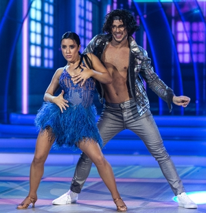 Lottie Ryan and her pro partner Pasquale La Rocca danced a samba was to Tip Toe by Jason DeRulo feat. French Montana.