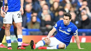 Seamus Coleman sustained a quad injury against Manchester United