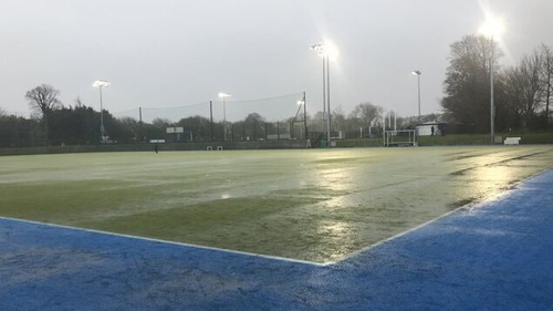 Monkstown game was abandoned at half-time (Pic: Monsktown Hockey Twitter)