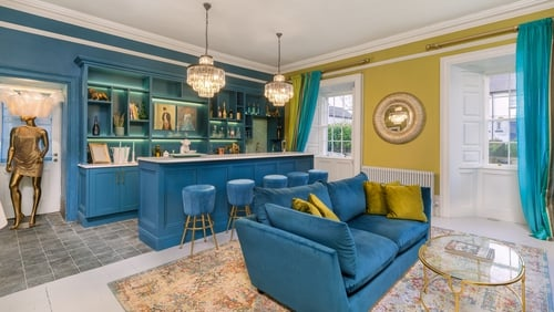Pops of colour bring this 1700s century home into the 21st century.