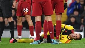 Deulofeu was injured at Vicarage Road on Saturday