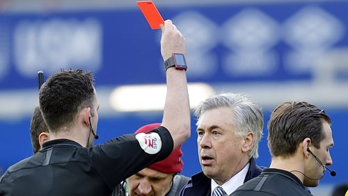 Carlo Ancelotti: Everton manager awaits punishment for red card