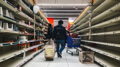 Euro zone food, drink and tobacco sales jumped by 2.4% in February as people started to stockpile