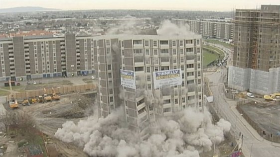 Demolition of MacDermott Tower (2005)