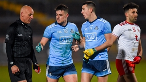 Dublin's Brian Howard (l) said he and his team-mates didn't discuss events at half-time