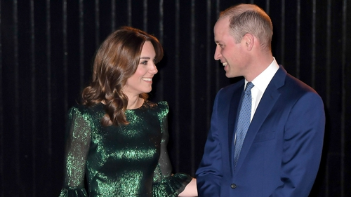 Kate and William arrive at the Guinness Storehouse in Dublin for a reception