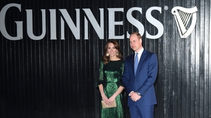 Focal pint: Kate and William attending a reception in the Guinness Storehouse in Dublin