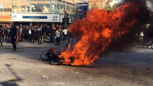 Protests erupted across Iran last November following a surprise petrol price rise