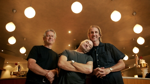 Phil Collins (centre), Mike Rutherford (right) and Tony Banks (left) will begin their The Last Domino? European tour at Dublin's 3Arena on Monday, November 16