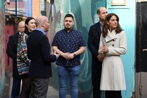 Prince William and Kate Middleton arrive at youth mental health charity Jigsaw