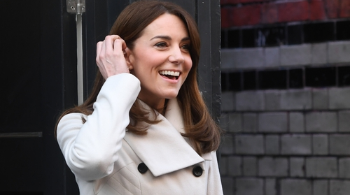 Kate shone in yet another sophisticated outfit, this time stepping out in a cream Reiss coat.