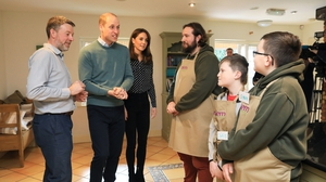 The royal couple travelled to a facility run by the charity Extern in Kildare (Pic: Julian Behal)