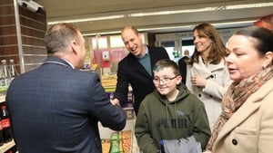 William and Kate paid a visit to the Londis store in Prosperous, Co Kildare (Pic: Julian Behal)