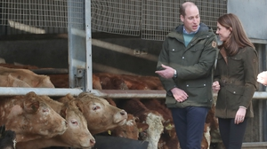 The Duke and Duchess during a visit to the Teagasc Animal & Grassland Research Centre in Co Meath