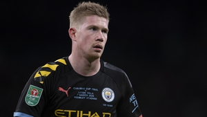 Kevin De Bruyne suffered the injury during the Carabao Cup Final