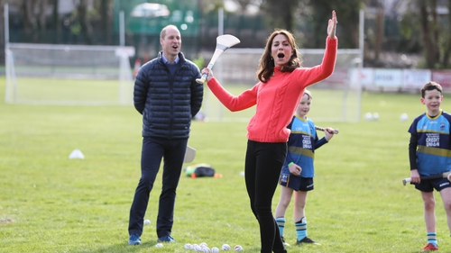 Prince William and Kate Middleton at Salthill Knocknacarra GAA Club